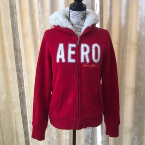 Red and White Aeropostale Jacket